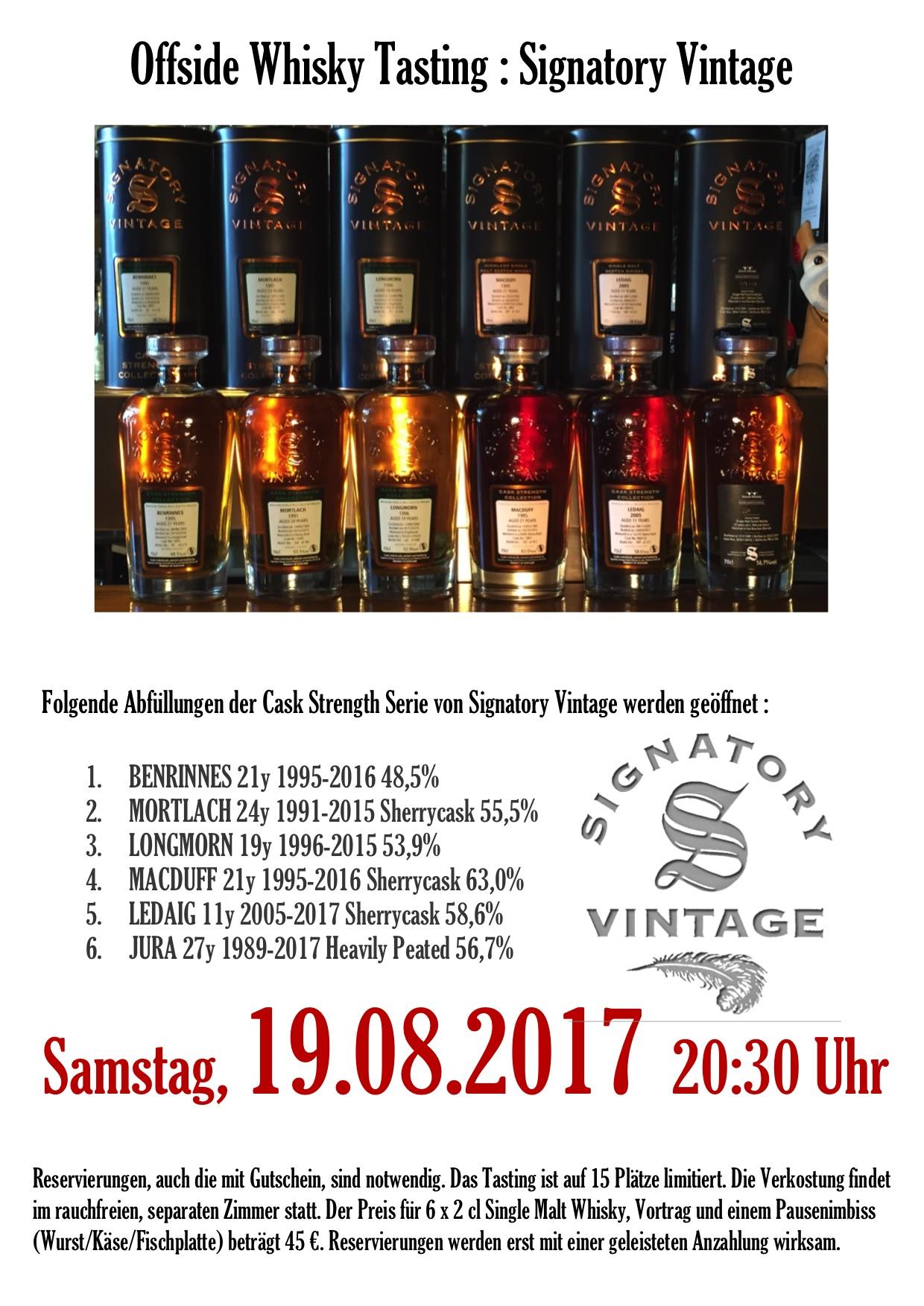 Offside Whisky Tasting : Signatory Vintage