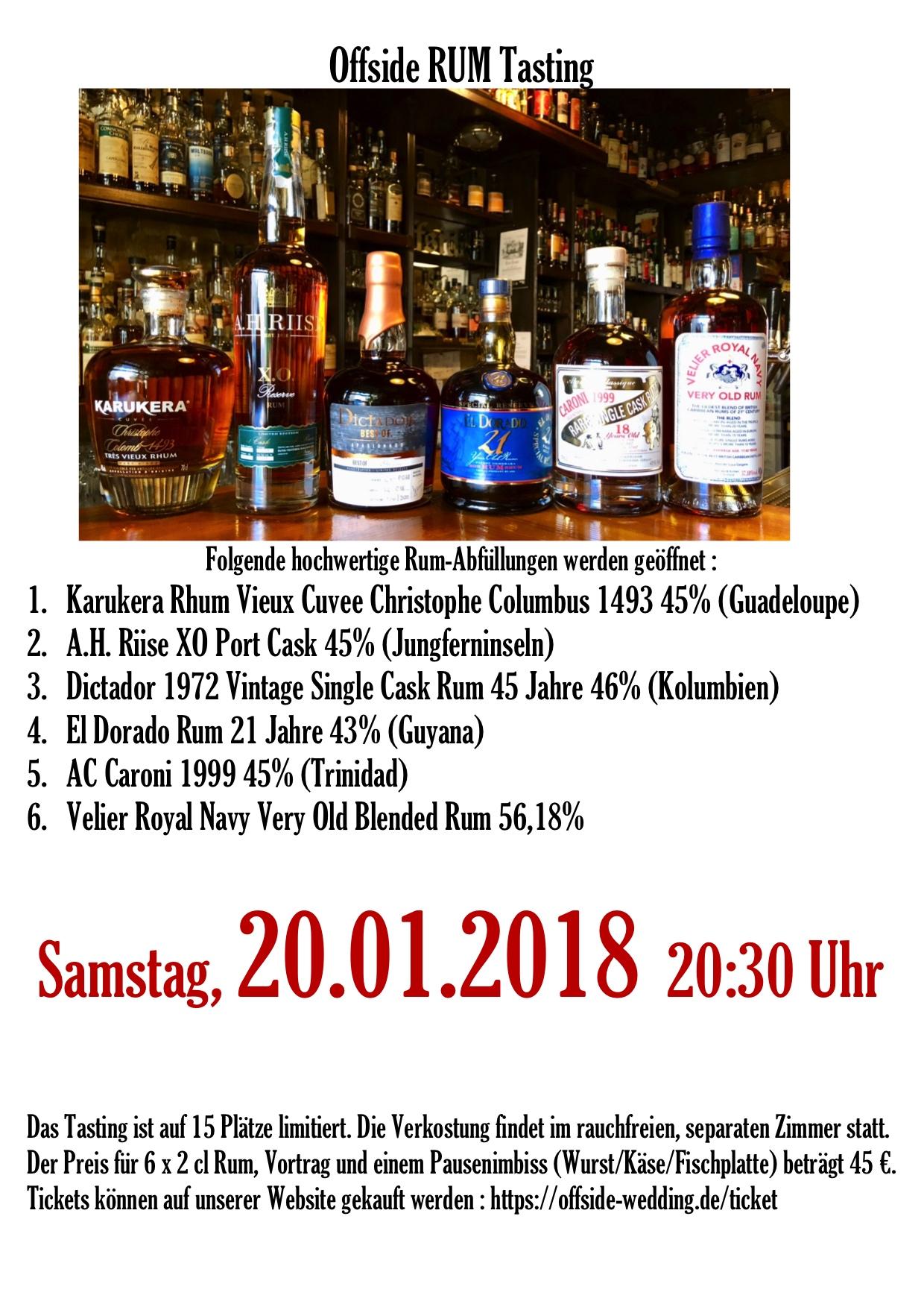 Rum Tasting 20.01.2018