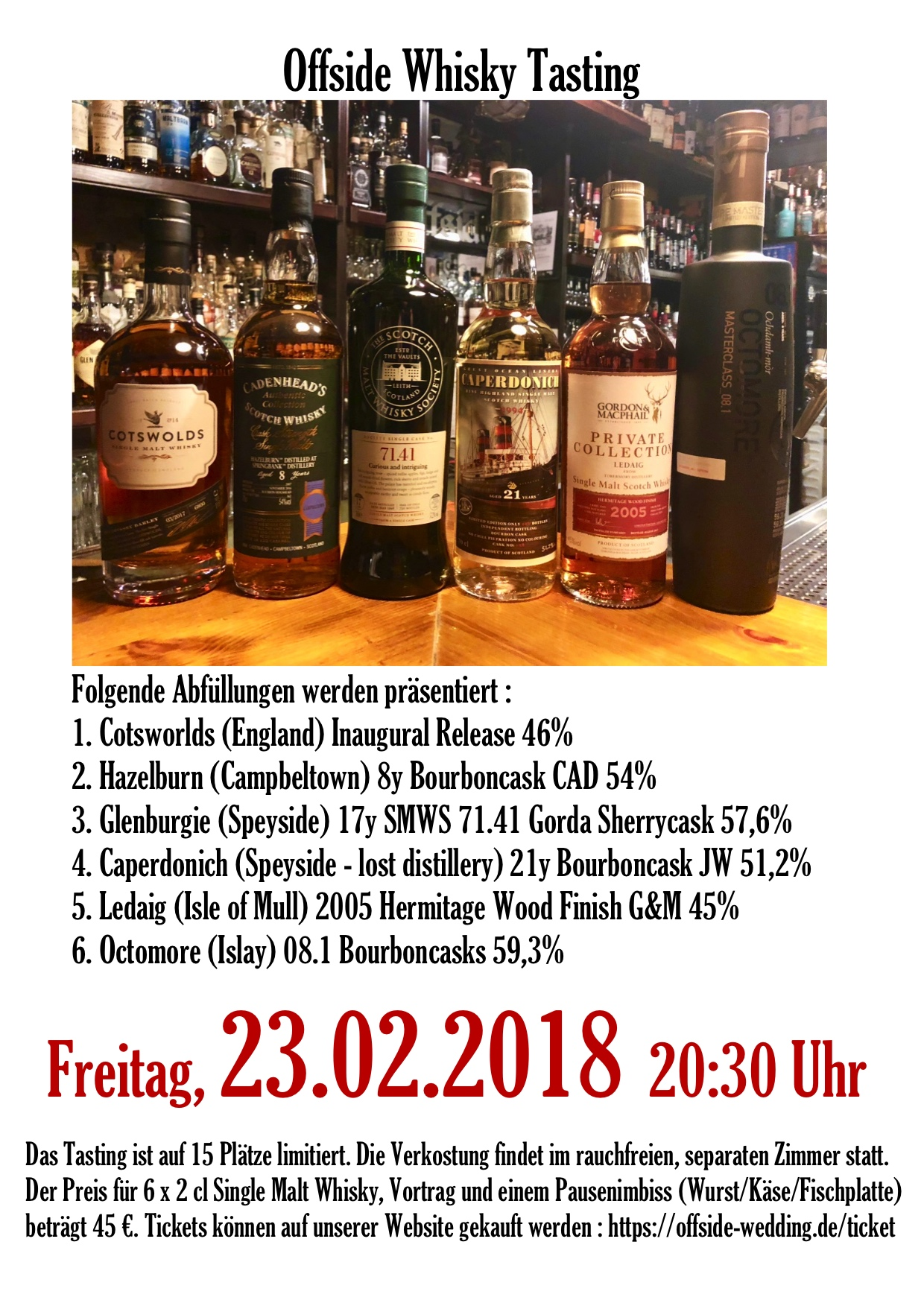 Whisky Tasting 23.02.2018