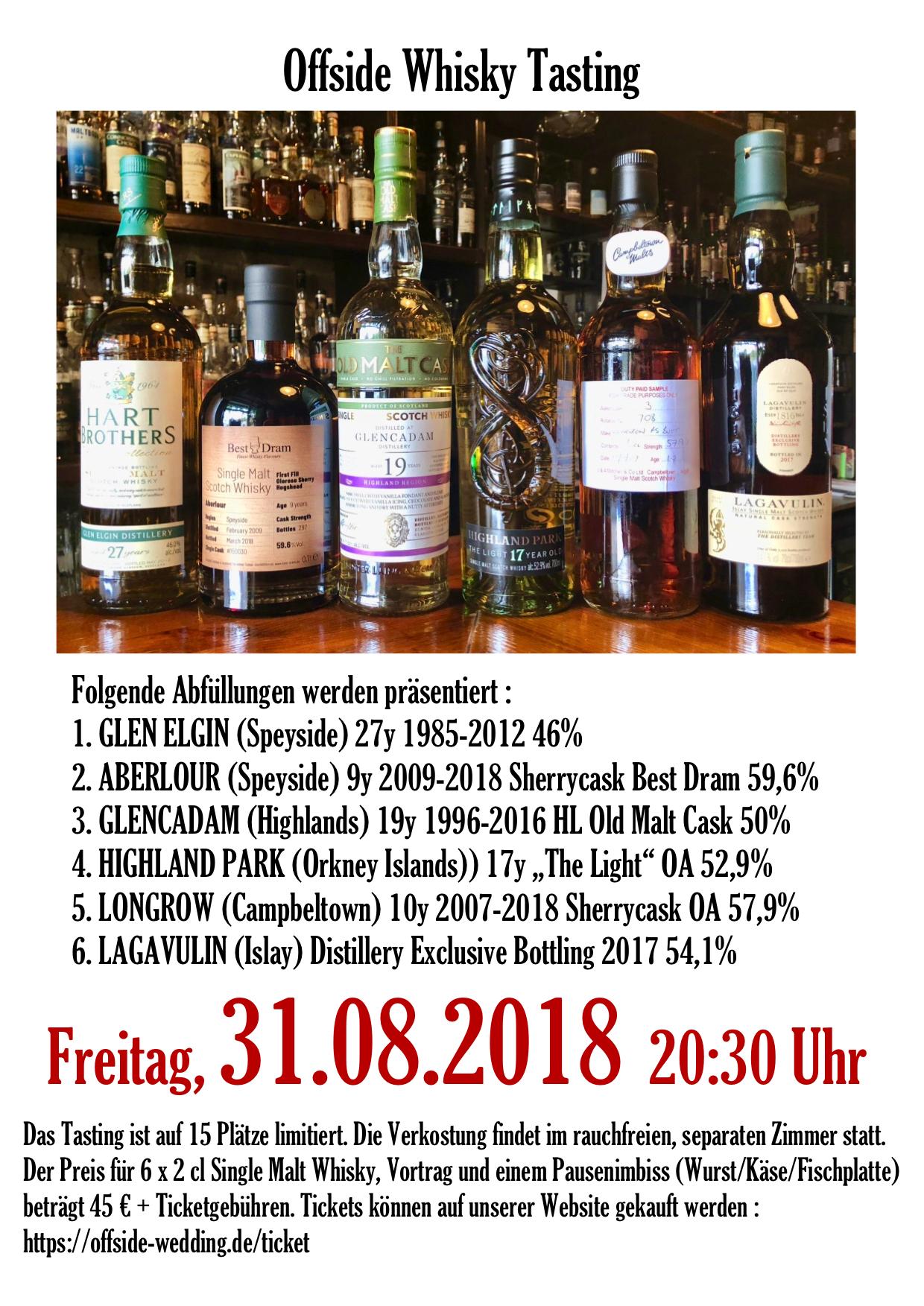 Whisky Tasting 31.08.2018