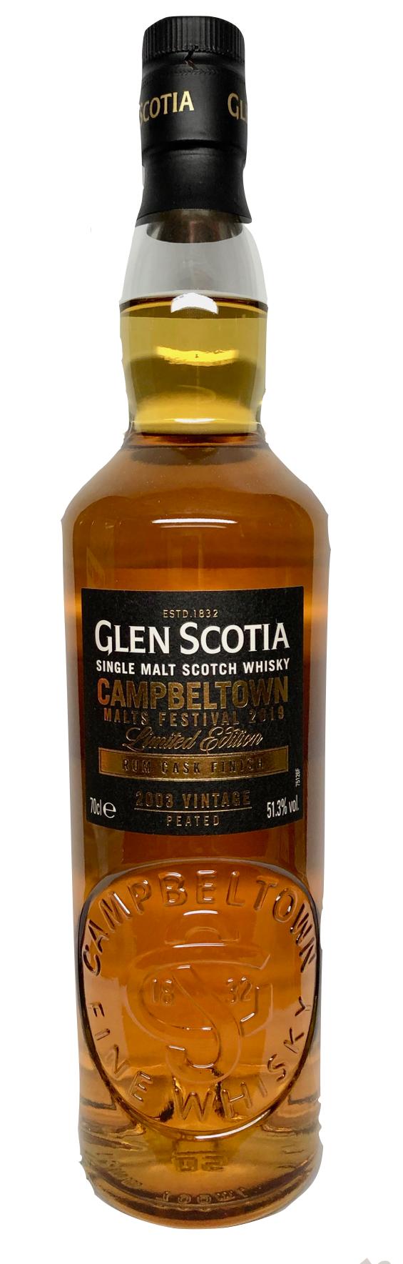 Glen Scotia 2003 2019 Rum Finish